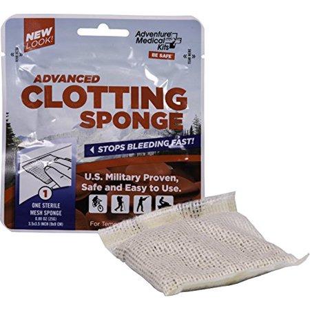Adventure Medical Kits Advanced Clotting Sponge with Zeolite, 25g, First Aid Hemostatic Sponge, Blood Clotting Sponge, Hemostatic Dressing, Stop Bleeding Fast, Clotting Agent - image 3 of 3