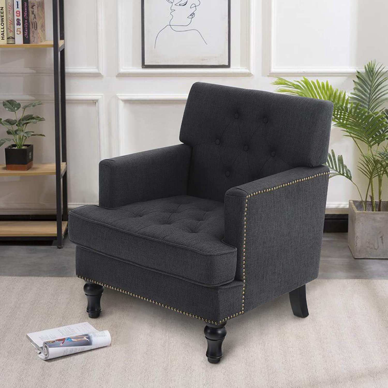 MF Studio Living Room Chair Mid Century Accent Sofa Chair ...
