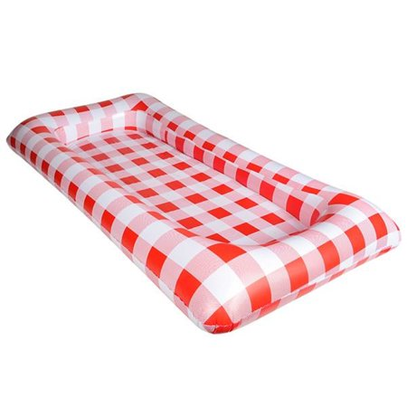 Red Gingham Inflatabuffet Inflatable Buffet Salad Bar Ice BBQ Party Food Cooler