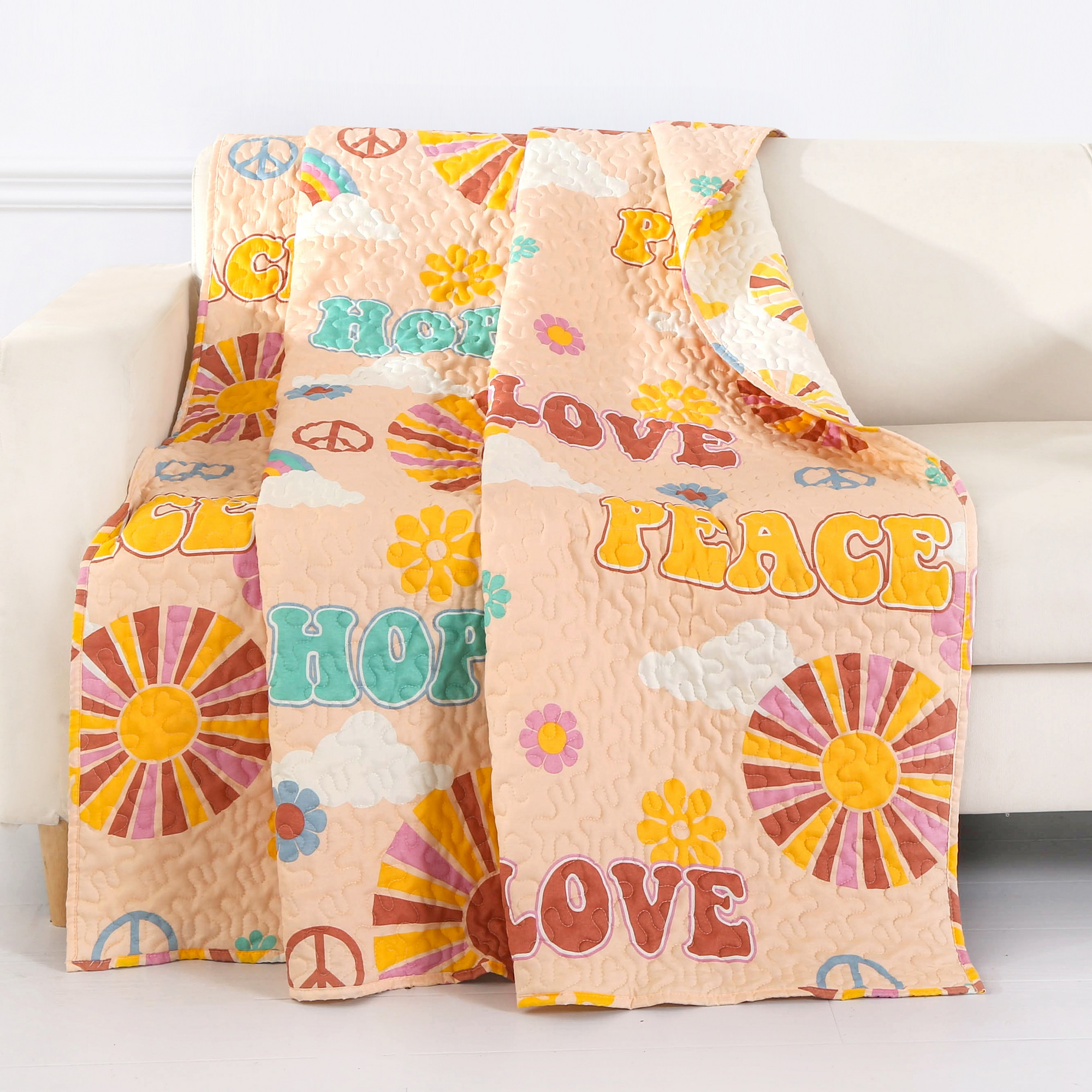"""Greenland Home Fashion Nirvana Reversible Accessory Throw Blanket 50x60/"""" Spice"""