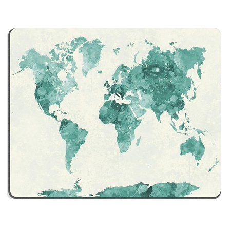 POPCreation Retro World Map Vintage Colorful Art Painting Mouse pads Gaming Mouse Pad 9.84x7.87 inches