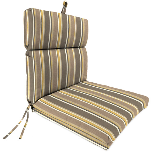 Jordan Manufacturing Outdoor Patio Replacement Chair Cushion, Brady Stripe Putty