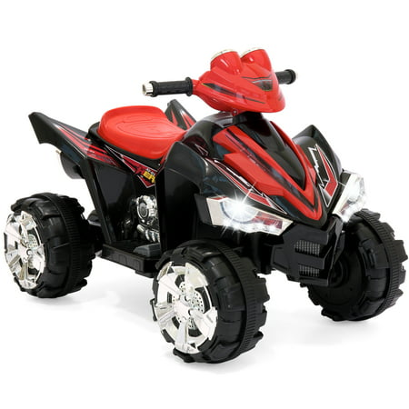 Best Choice Products 12V Kids Battery Powered Electric 4-Wheeler Quad Atv Ride On Toy W/ 2 Speeds, Led Lights -