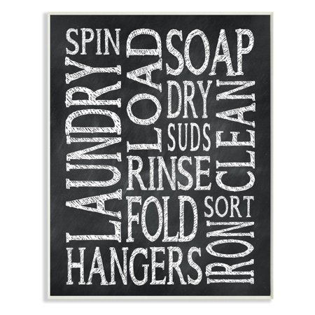 Laundry Words Chalk Look Wall Plaque Art