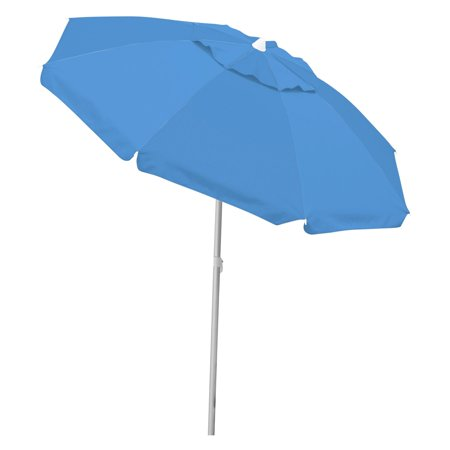 Caribbean Joe 6.5' Tilting Double Canopy Beach Umbrella with Case