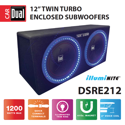 "Dual Electronics 12"" illumiNITE Studio Enclosed Subwoofer"