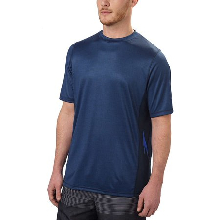 PVH Corp. Speedo Mens Size Medium UPF 50 Short Sleeve Rashguard Swim Tee, New Navy