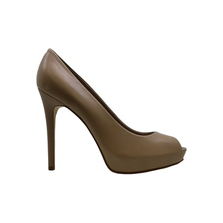 Guess Womens Honora9 Leather Peep Toe Classic Pumps