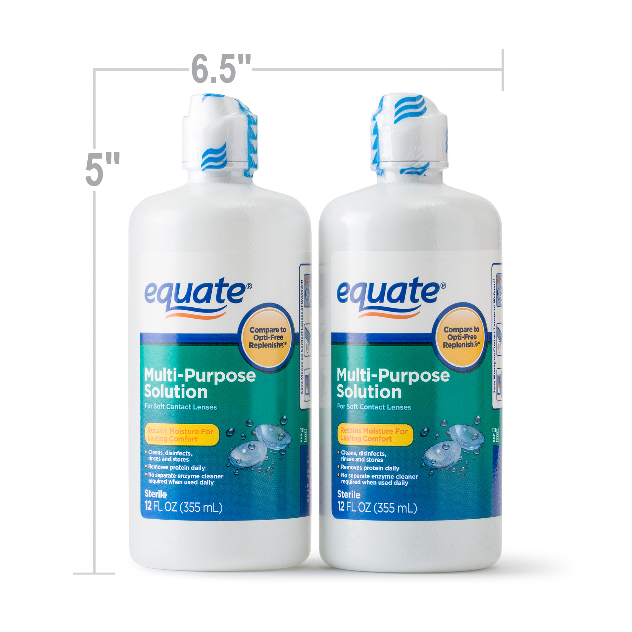 2 pack) equate sterile multi purpose contact solution , 12 oz, 2 pk Bionic Contact Lens (2 pack) equate sterile multi purpose contact solution , 12 oz, 2 pk walmart com
