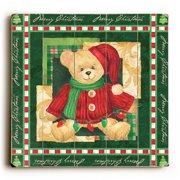 Artehouse LLC Teddy Bear in Sweater Graphic Art Plaque