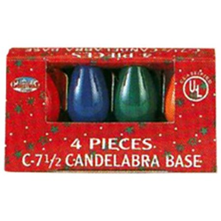 Santas Forest 9928391 Christmas C7 Ceramic Replacement Bulb - Multicolor, Pack of 4 - image 1 de 1