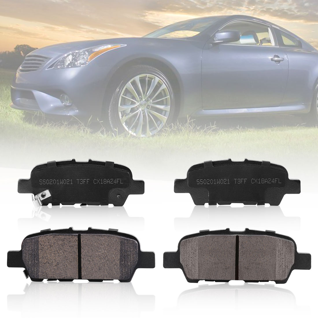 Brake Kits 2006 Fits Infiniti G35 X Front Ceramic Brake Pads with Hardware Kits and Two Years Manufacturer Warranty