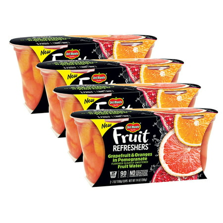 (4 Pack) Del Monte Fruit Refreshers Grapefruit & Oranges in Pomegranate Water, 7 oz Cup, 2 Count Box](Halloween-orange Fruit Cups)