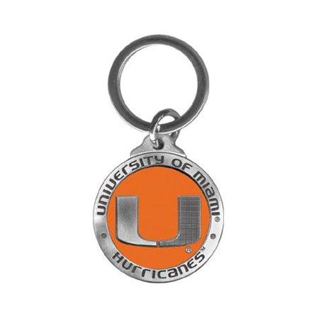 Heritage Metalworks Kc10185eo University Of Miami Key Chain  44  Orange