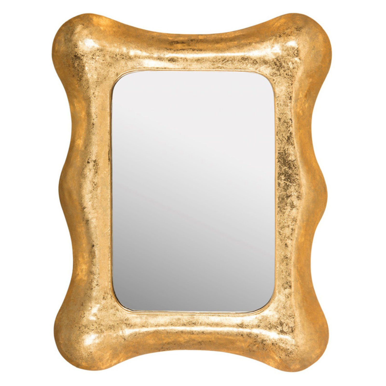 Safavieh Geri Square Iron Mirror, Gold/White