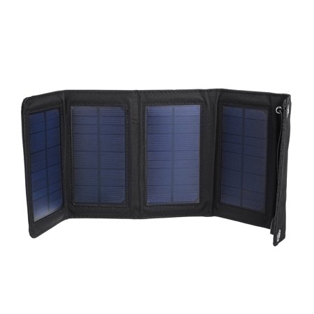 10w Solar Panel - 10W 5.5V High Efficiency Waterproof Portable Foldable 4 Panel Solar Panel Solar Charger with USB Port for Outdoor Travel