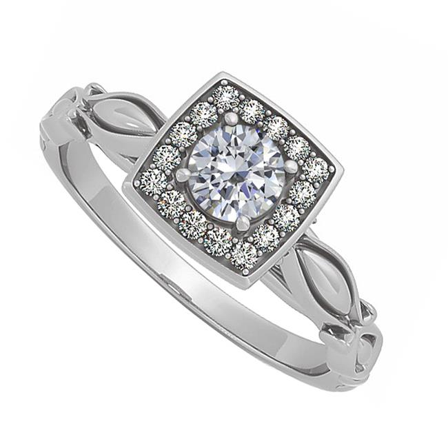 Fine Jewelry Vault UBNR84679AGCZ Elegant CZ Ring in 925 Sterling Silver