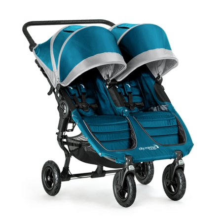 7198a40cc Baby Jogger 2016 City Mini GT Double Stroller- Teal Gray - Walmart.com