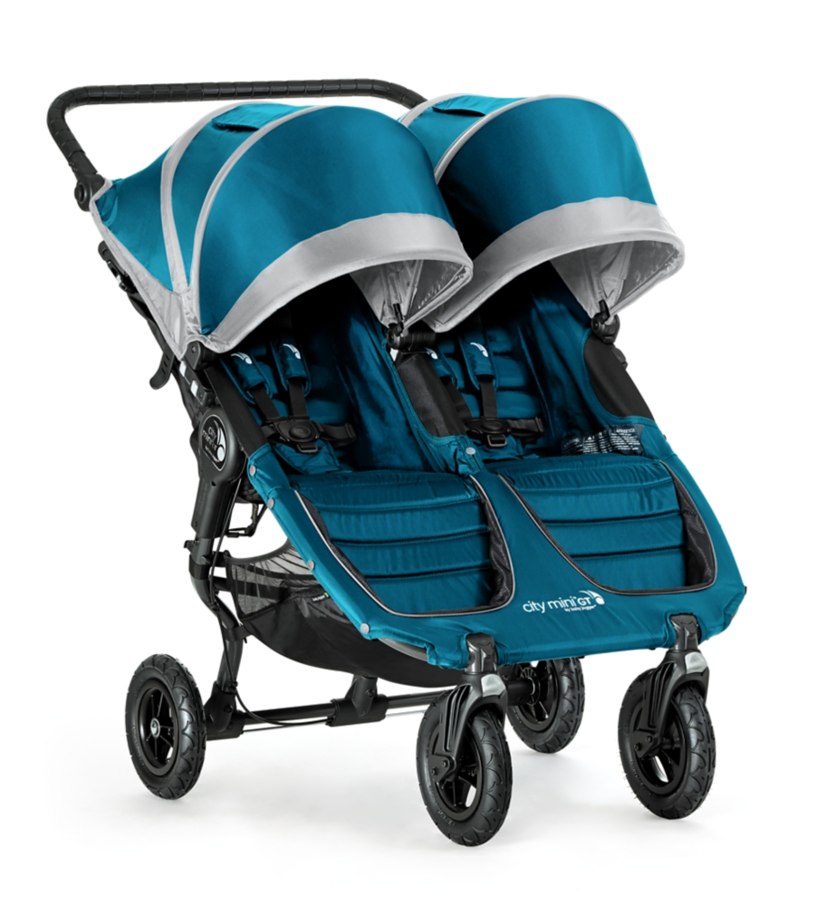 Baby Jogger 2016 City Mini GT Double Stroller- Teal/Gray