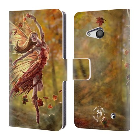 OFFICIAL ANNE STOKES FAIRIES LEATHER BOOK WALLET CASE COVER FOR MICROSOFT NOKIA PHONES - Microsoft Leather Case