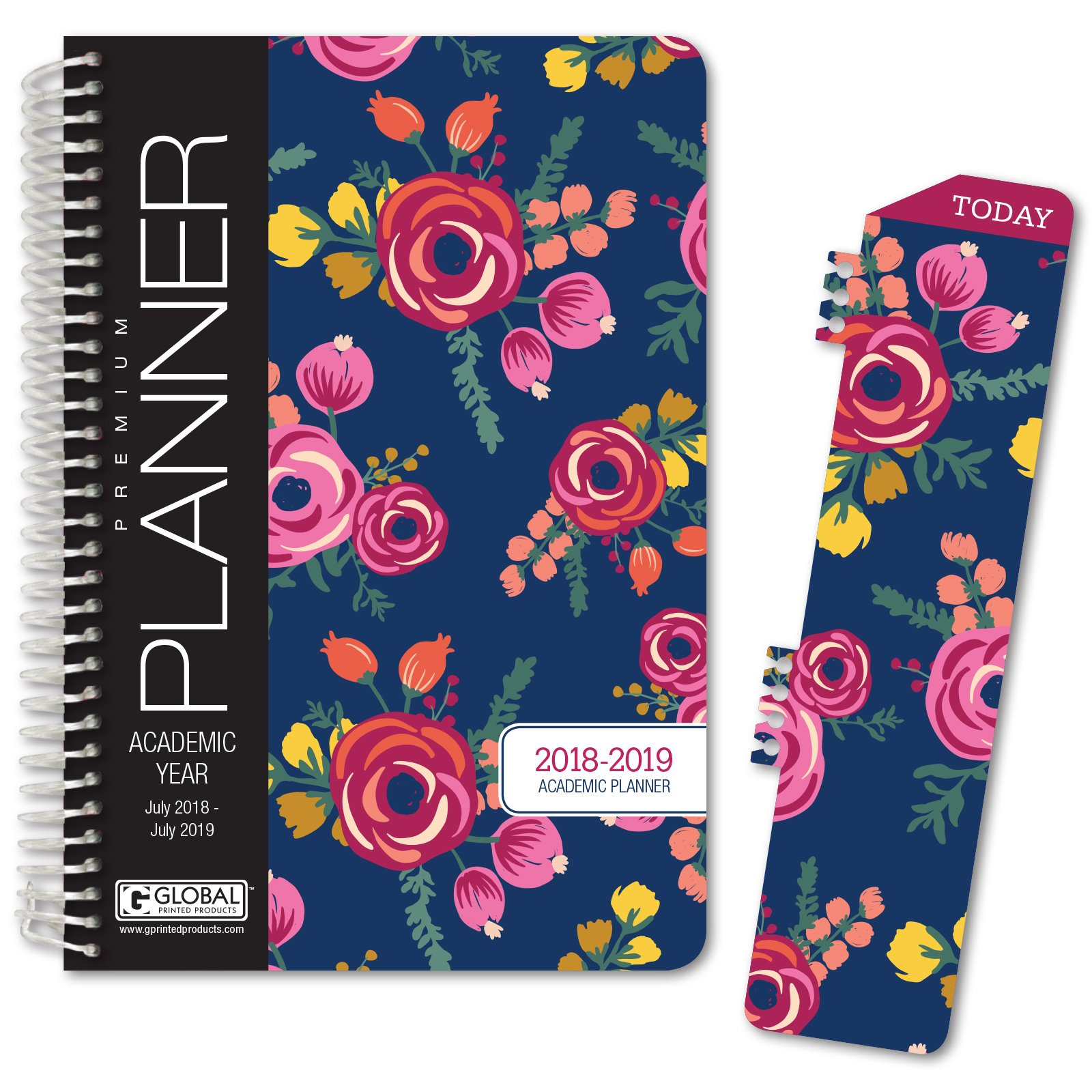 picture about Hardcover Daily Planner titled HARDCOVER Instructional Yr Planner 2018-2019 - 5.5\