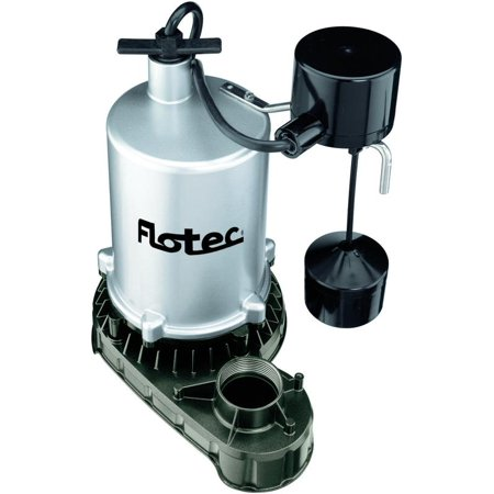 Flotec Fpzt7450 High Output Submersible Sump Pump With Vertical Float Switch  6360 Gph  3 4 Hp