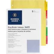 Business card binders business source insertable tab ring binder indexes 5 blank tabs2 reheart Images