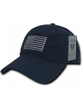 65a8d55ae59 Product Image RapDom USA Tonal Flag Relaxed Ripstop Mens Cap  Black -  Adjustable
