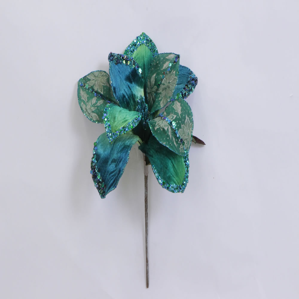 "30"" Peacock Beaded Magnolia 11"" Flower"