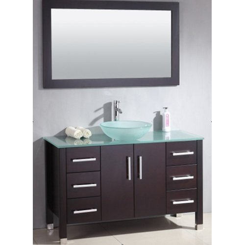 Cambridge Plumbing Cassia 47'' Single Bathroom Vanity Set with Mirror