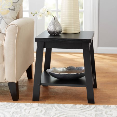 Mainstays Logan Side Table, Multiple - Storage Espresso End Tables