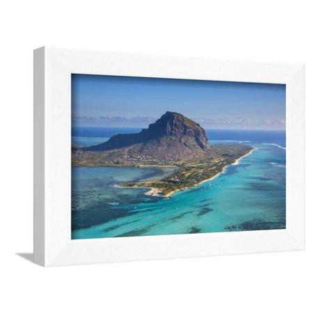 - Le Morne Brabant Peninsula, Black River (Riviere Noire), West Coast, Mauritius Framed Print Wall Art By Jon Arnold