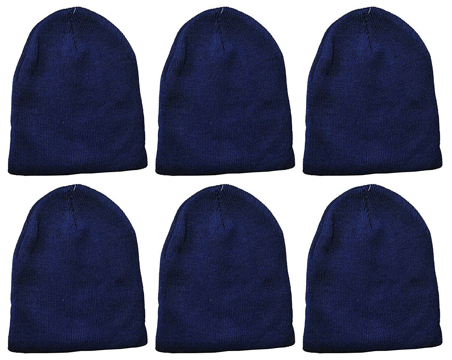 Wholesale Bulk Cold Weather Warm Knit Skull Caps Mens Womens Unisex Hats 48 Pack Winter Beanies