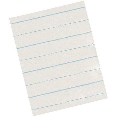 school smart alternate ruled short way writing paper for primary grade 85 x 11
