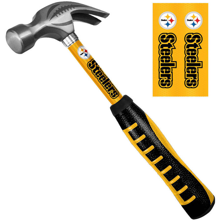 Sainty 08324 Pittsburgh Steelers 16-Ounce Steel Hammer