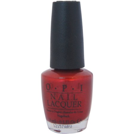 OPI  Nail Lacquer, Danke-Shiny Red, 0.5 oz - Red Halloween Acrylic Nails