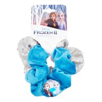 Disney Frozen 2 Elsa & Anna Velvet and Sequin Scrunchies, 2 pack