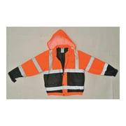UTILITY PRO WEAR UHV562O-5XL Bomber Jacket,Insulated,Orange/Black,5XL