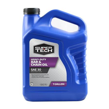 Medium Gear Oil - Super Tech SAE 30 Bar and Chain Oil, 1 Gallon
