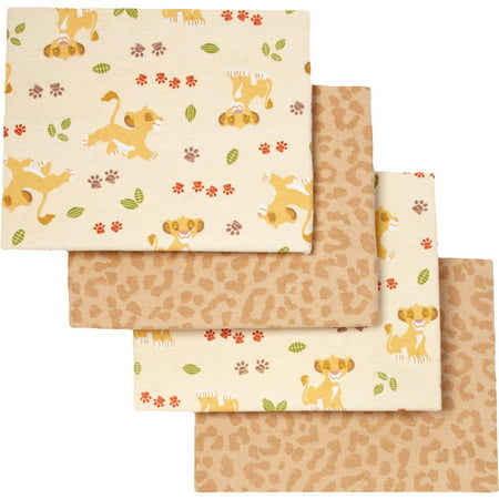 Lion King Under the Sun Flannel Blanket, 4 Count - Baby Lion King