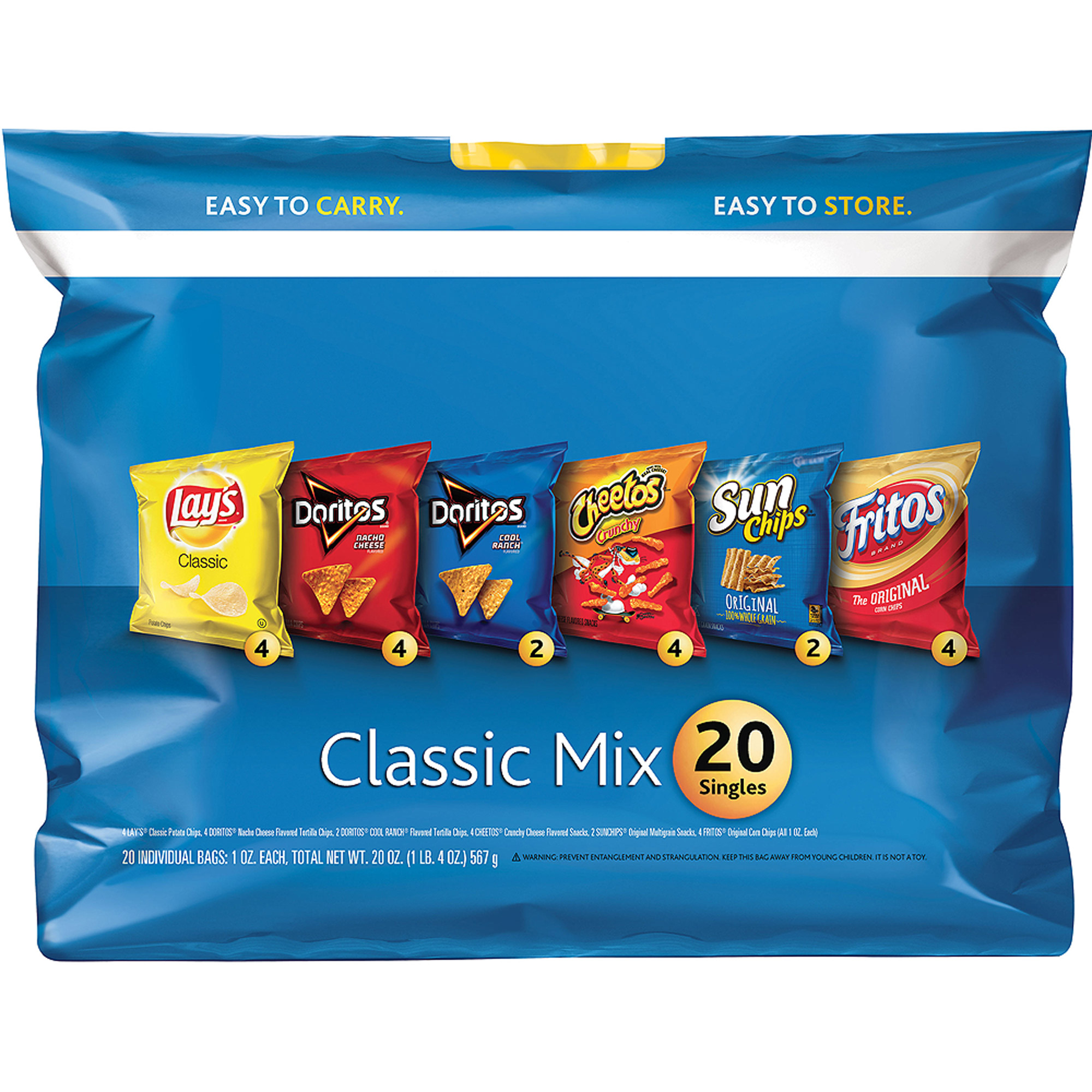 Fritolay 2Go Classic Mix Variety Pack (20 - 1 oz.) 20 oz. Plastic Bag