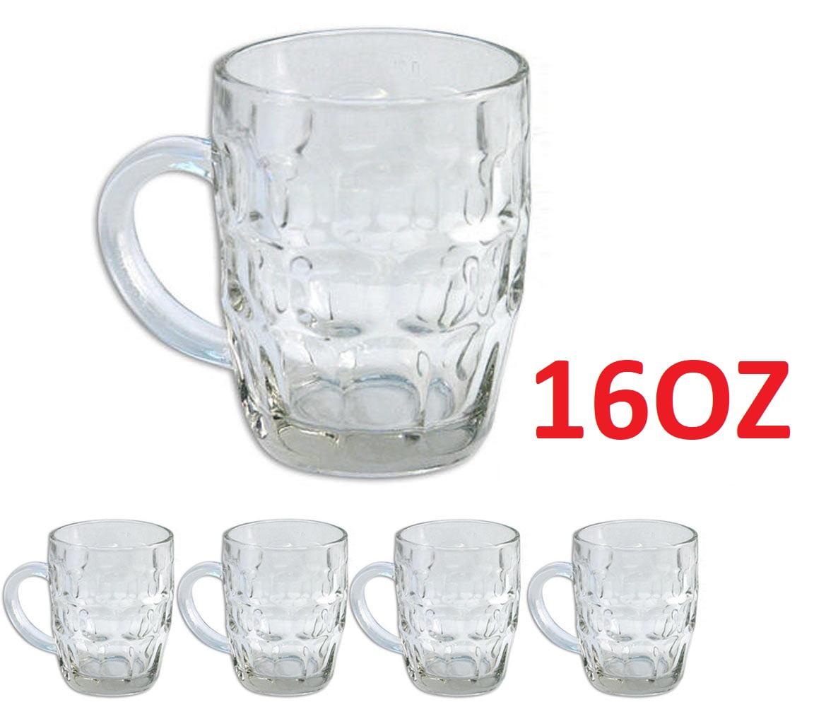 5 Pilsner Gl Cups Clear Coffee Mug
