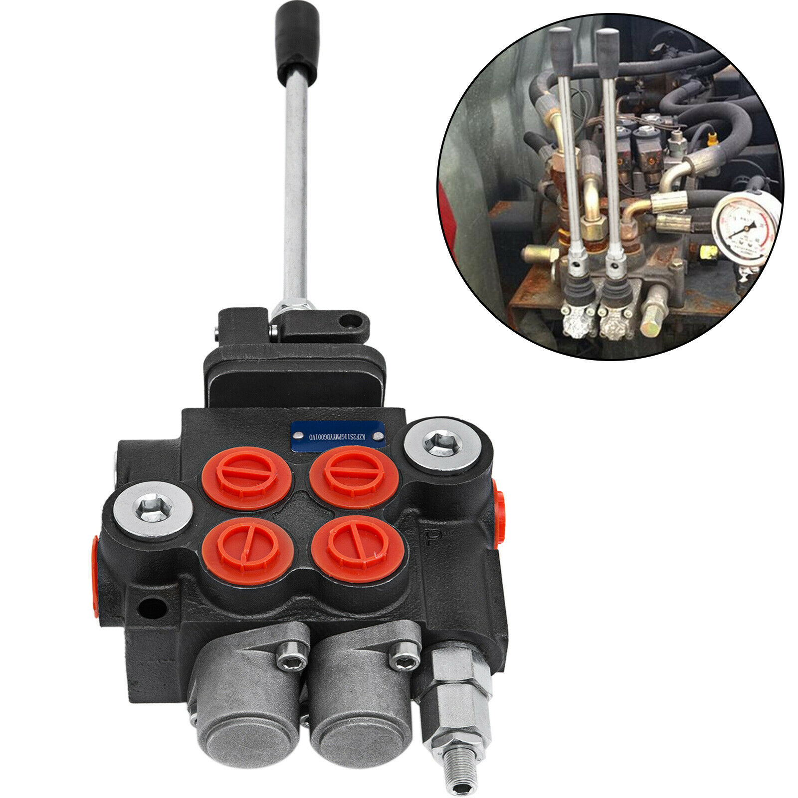 Hydraulic Directional Control Valve Tractor Loader w// Joystick 11 GPM 2 Spool