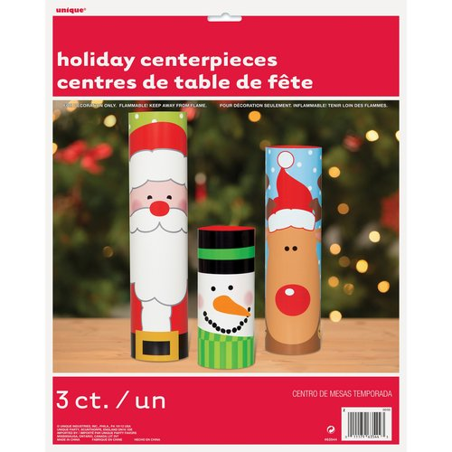 Paper Christmas Centerpiece Decorations, 3-Count