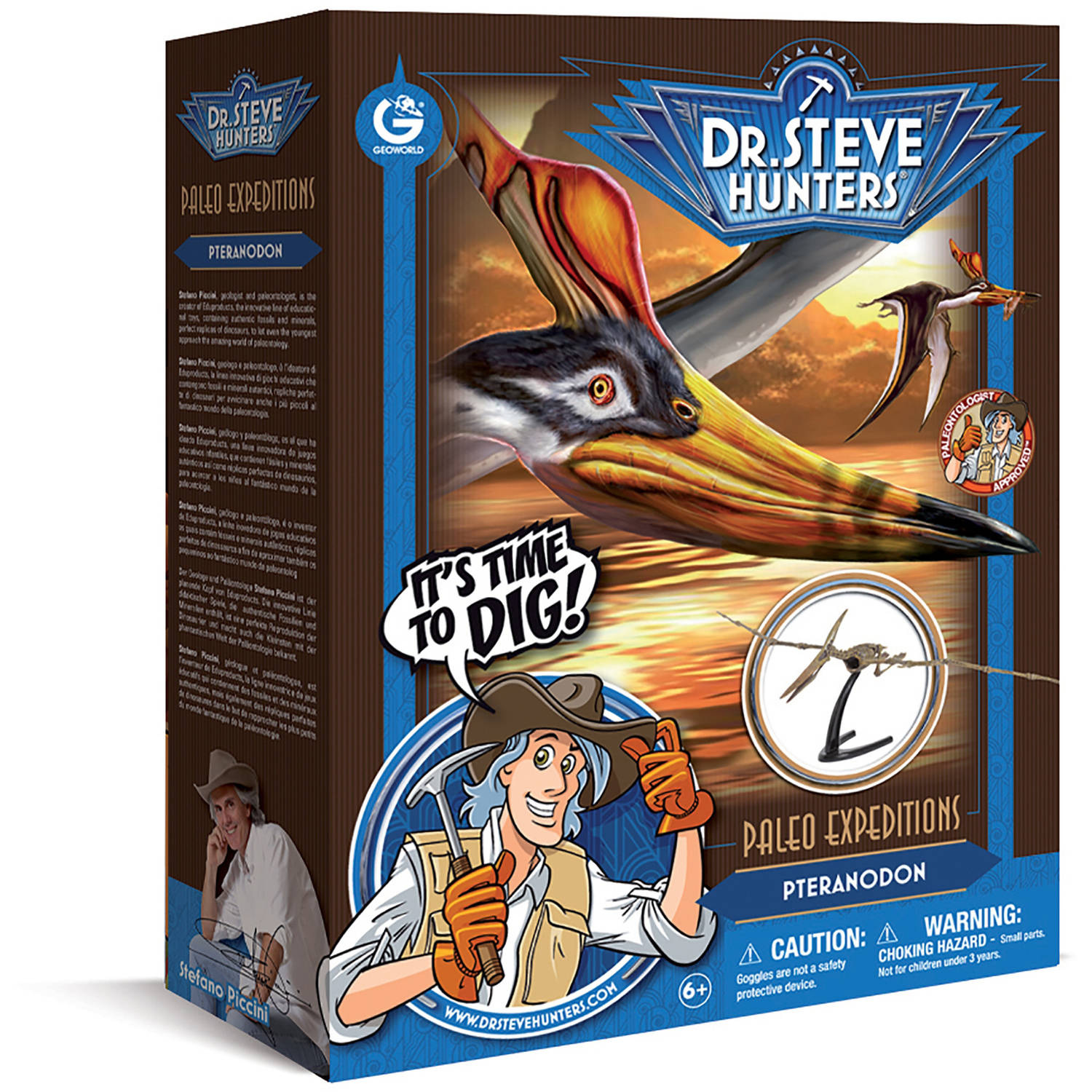 Geoworld Dr. Steve Hunters Paleo Expeditions Dino Excavation Kit, Pteranodon