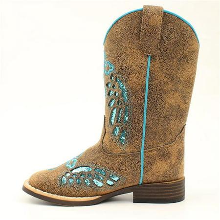 Blazin Roxx 443000591-05 Gracie Toddler Boot, Tan & Black - Size 5 - image 1 de 1