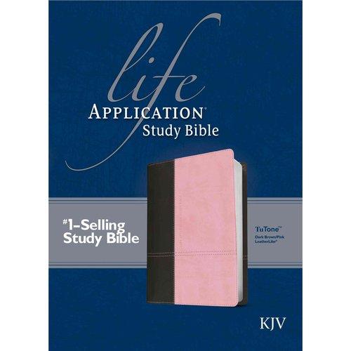 Life Application Study Bible: King James Version, Dark Brown/Pink, TuTone, LeatherLike,