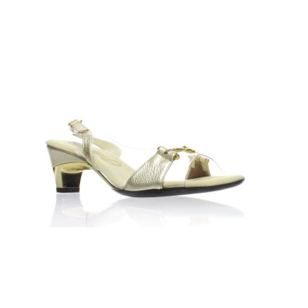 Onex Womens Sweet Platinum Open Toe Heels Size 6