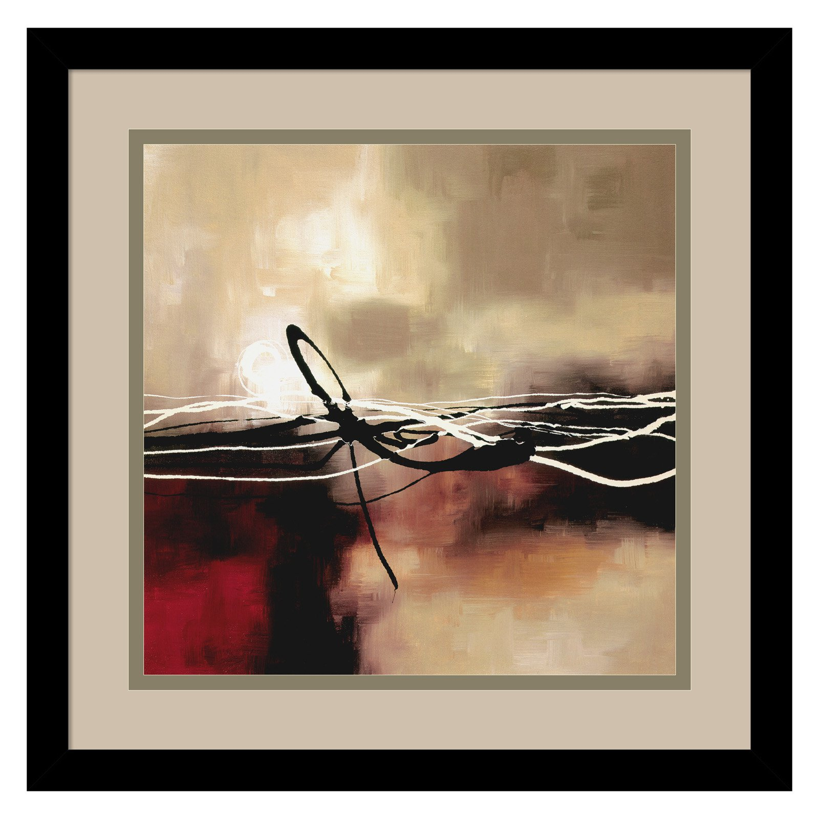 Symphony in Red and Khaki II Framed Wall Art by Laurie Maitland
