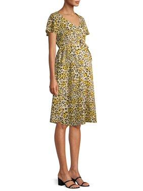 Oh! Mamma Maternity Empire Waist Sleeveless Ruffle Dress